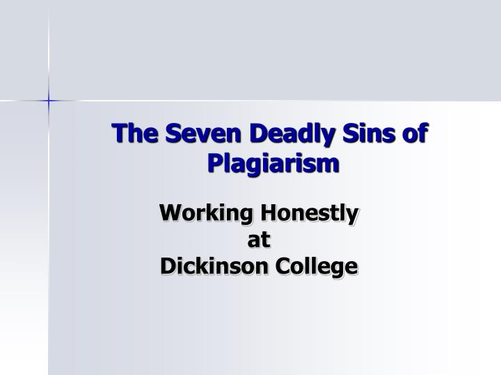 the seven deadly sins of plagiarism n.