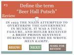 define the term beer hall putsch