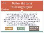 define the term einsatzgruppen