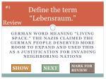 define the term lebensraum