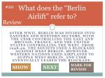 what does the berlin airlift refer to