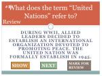 what does the term united nations refer to