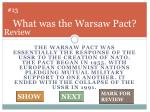 what was the warsaw pact