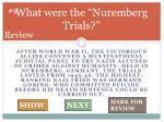 what were the nuremberg trials