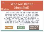 who was benito mussolini