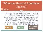 who was general francisco franco