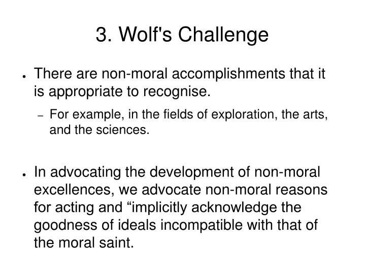 3. Wolf's Challenge
