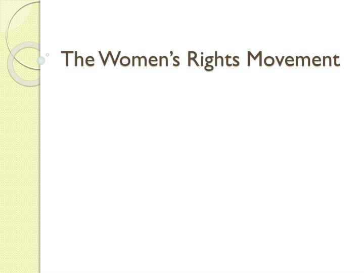 the women s rights movement n.