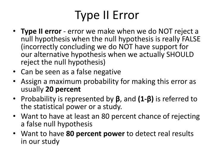 Type II Error