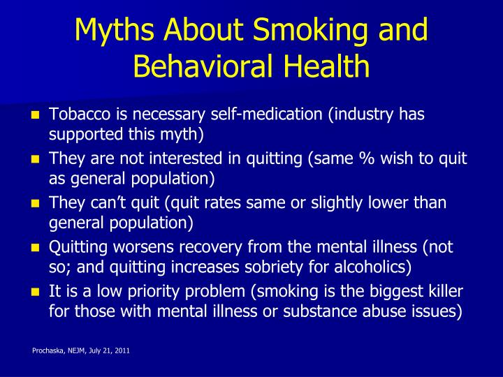 Myths About Smoking and Behavioral Health