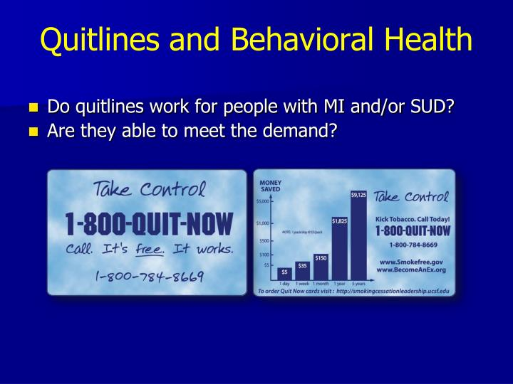 Quitlines and Behavioral Health