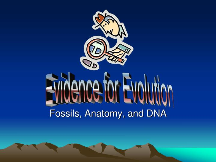 Ppt Fossils Anatomy And Dna Powerpoint Presentation Id2319824