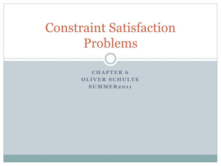 constraint satisfaction problems n.