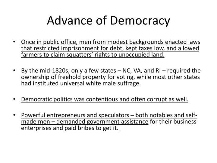 Advance of Democracy
