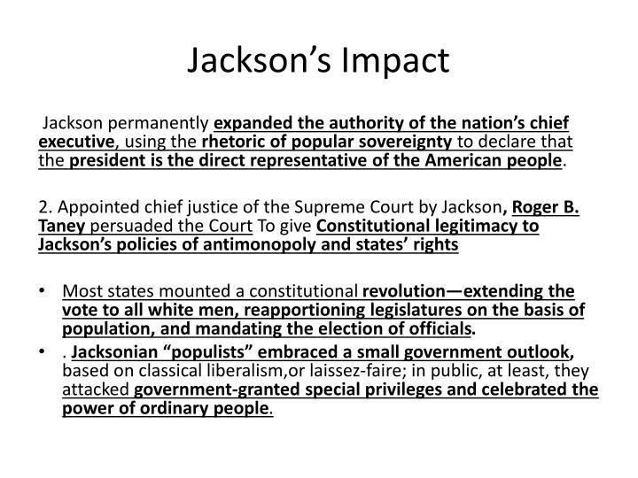 Jackson's Impact