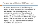 forgiveness within the old testament
