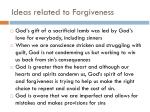 ideas related to forgiveness1