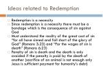 ideas related to redemption