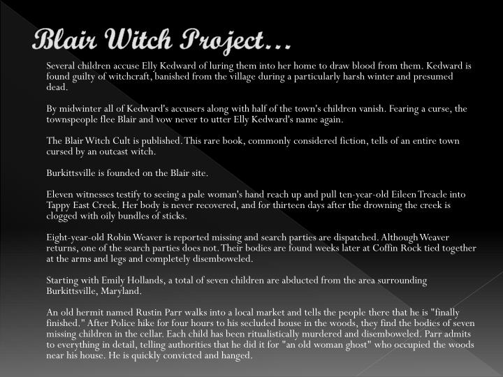 the blair witch trials