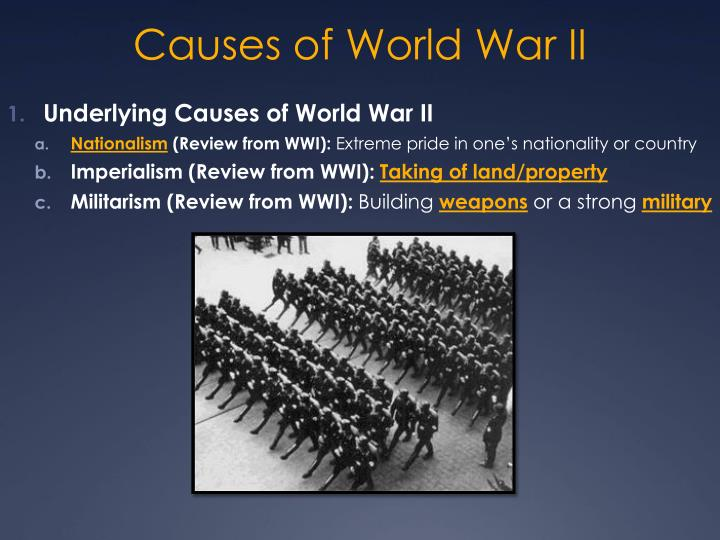 what was the underlying cause of world war 1