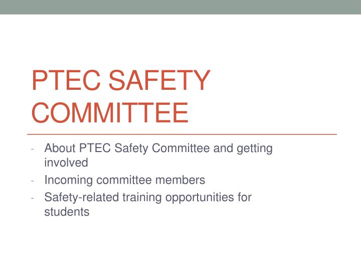 ptec safety committee n.