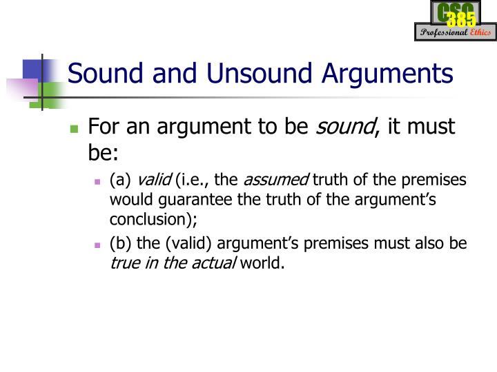 sound and unsound arguments examples