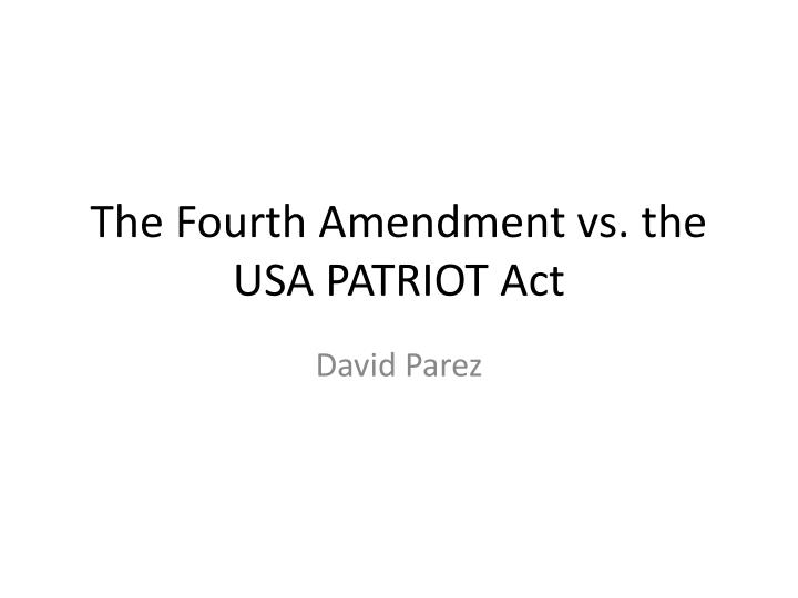 an introduction to the history of the fourth amendment View and download fourth amendment the history and development of the fourth amendment the due process law of the fourth amendment outline: introduction:.