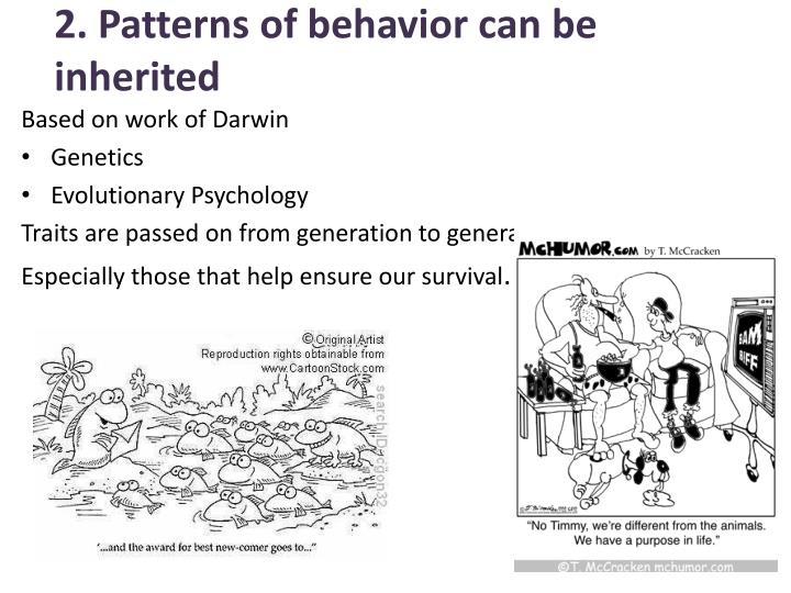 2. Patterns of behavior can be inherited