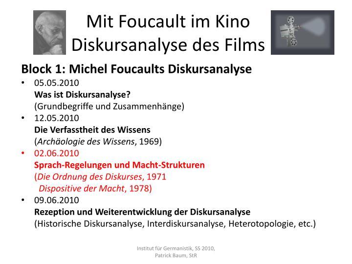 Mit foucault im kino diskursanalyse des films2