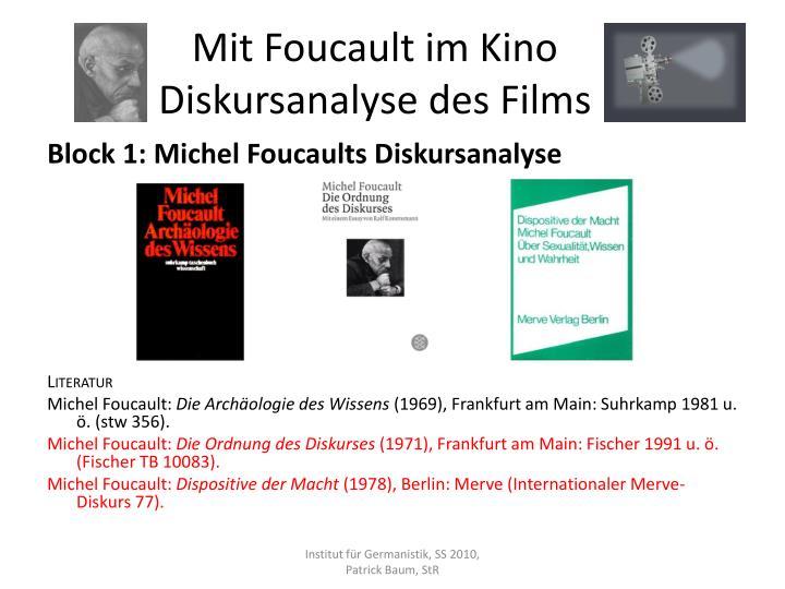 Mit Foucault im Kino