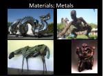 materials metals