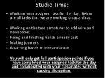 studio time2