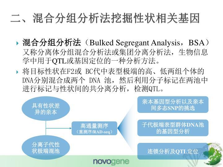 二、混合分组分析法挖掘性状相关基因