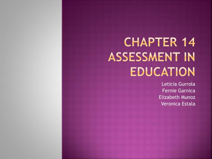 chapter 14 assessment in education n.
