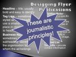 designing flyer publications