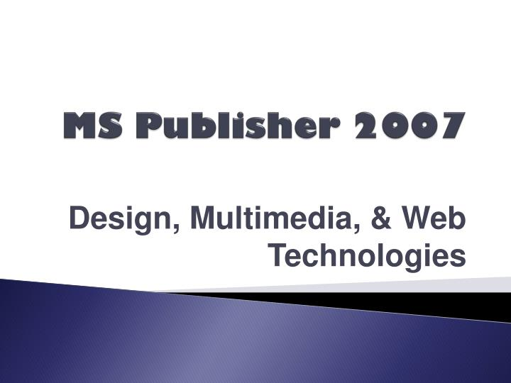 ms publisher 2007 n.