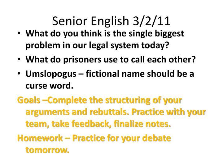 Senior english 3 2 11
