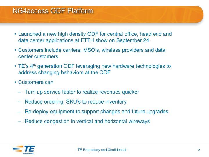 Ng4access odf platform1