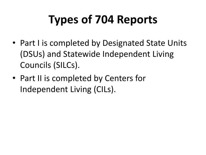 Types of 704