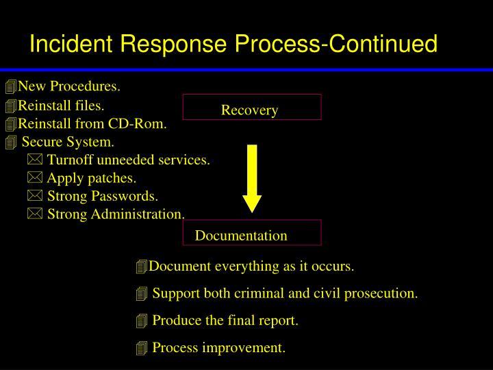 New Procedures.