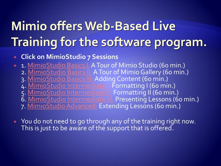 Mimio offers Web-Based