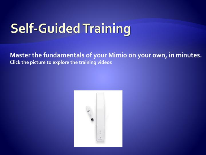 Self-Guided Training