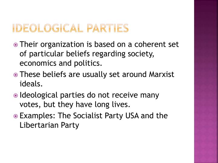 Ppt Types Of Minor American Parties Powerpoint Presentation Id