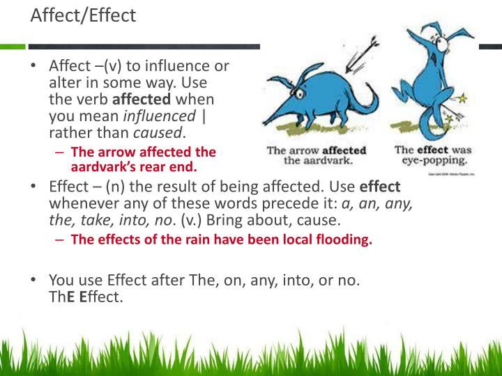 Affect/Effect