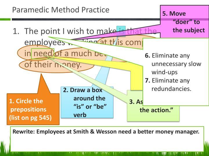 Paramedic Method Practice