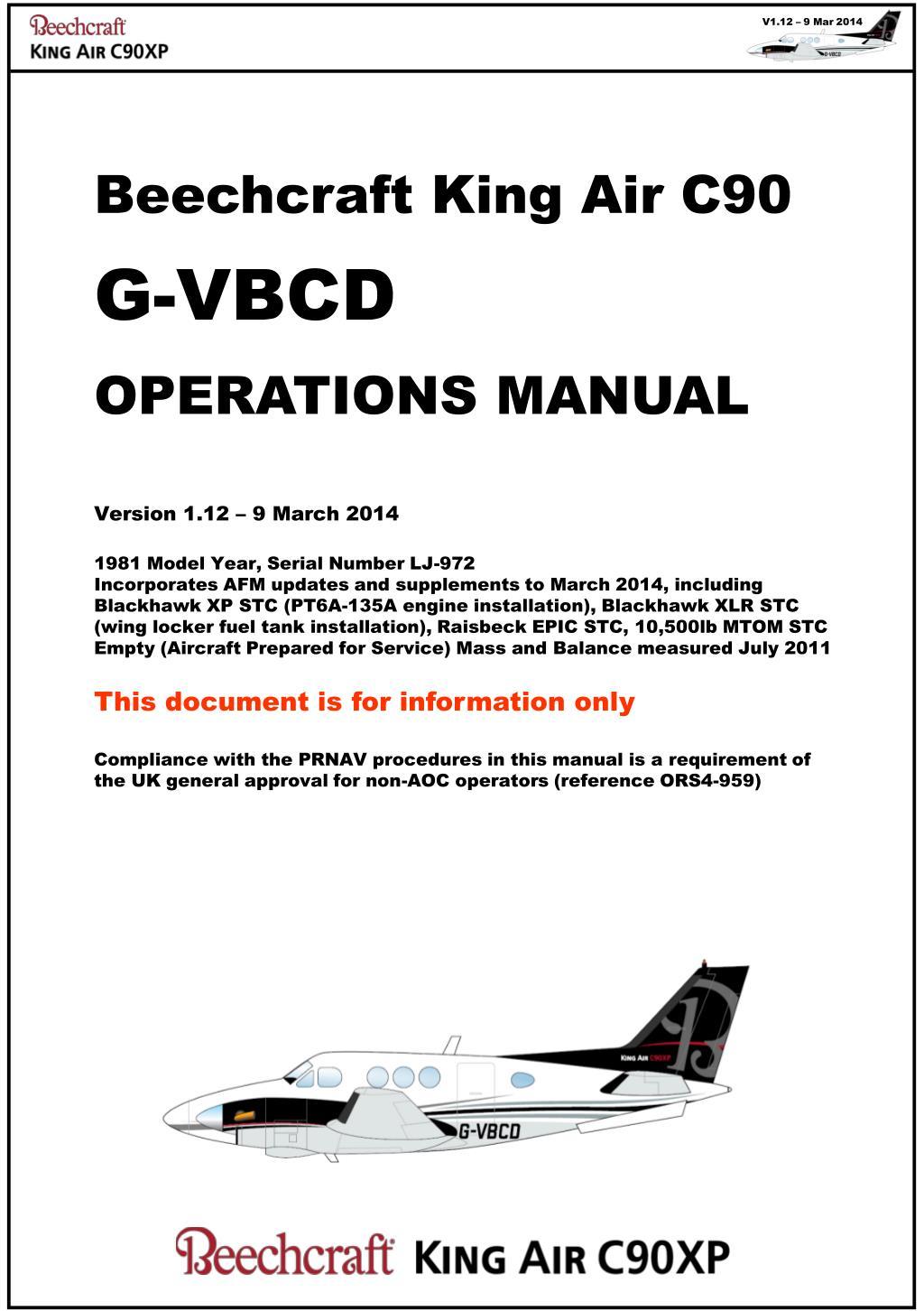 ppt beechcraft king air c90 g vbcd operations manual version 1 12 rh slideserve com