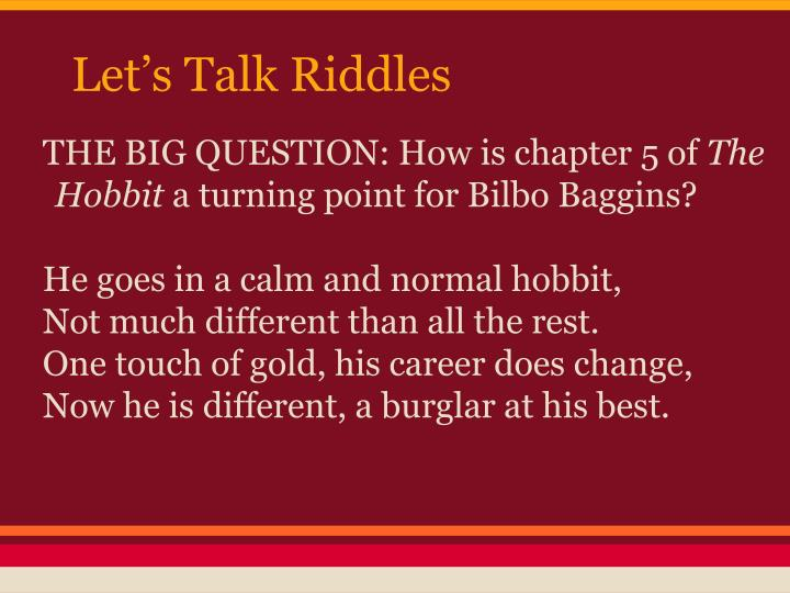 Let's Talk Riddles