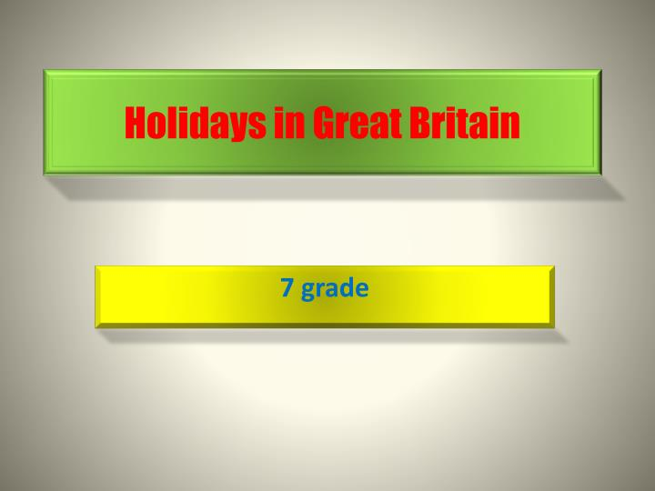 holidays in great britain n.