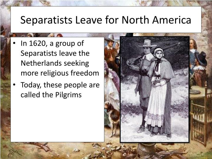 Separatists leave for north america