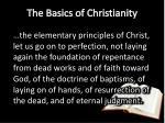 the basics of christianity2